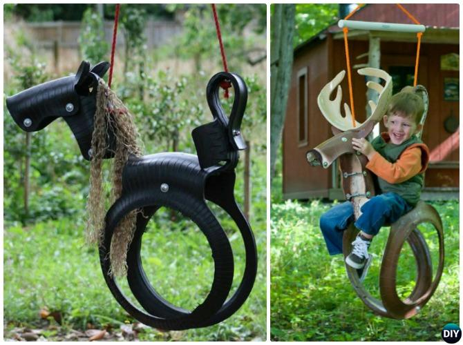diy outdoor kid swing ideas projects picture instructions