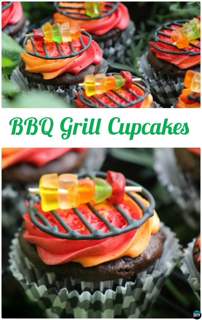 DIY BBQ Grill Cupcakes-50 Most Surprising Cupcake Decoration Ideas and Recipes