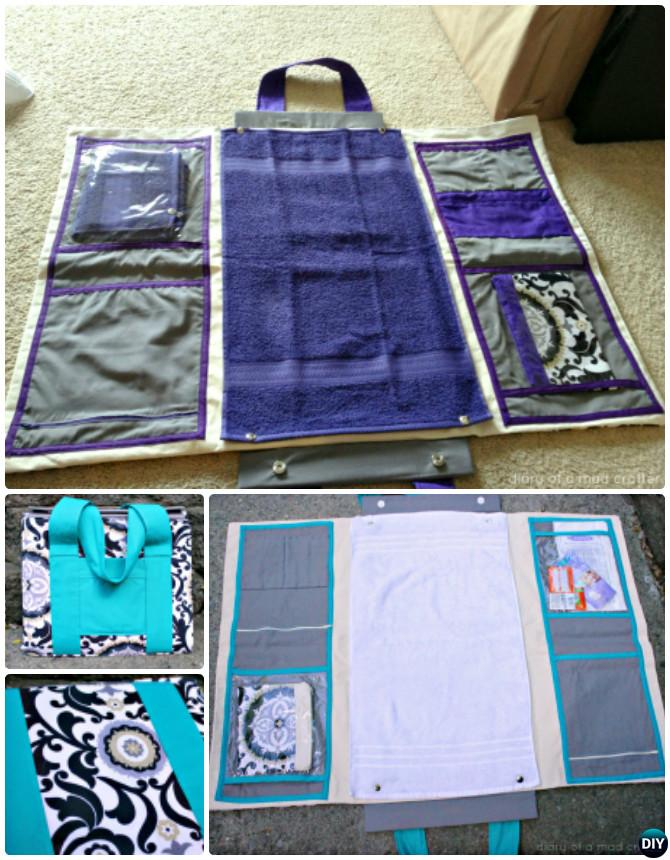 DIY Baby Diaper Bag Changing Station Sew Pattern Picture Instructions