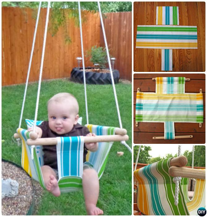 DIY Baby Hammock Swing-10 DIY Hammock Projects Instructions