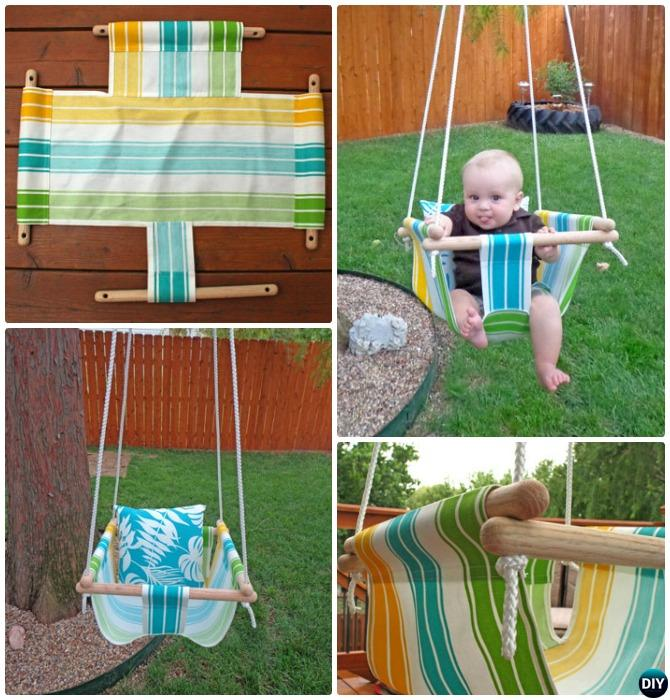 Diy outdoor kid swing ideas projects picture instructions for Diy canvas hammock
