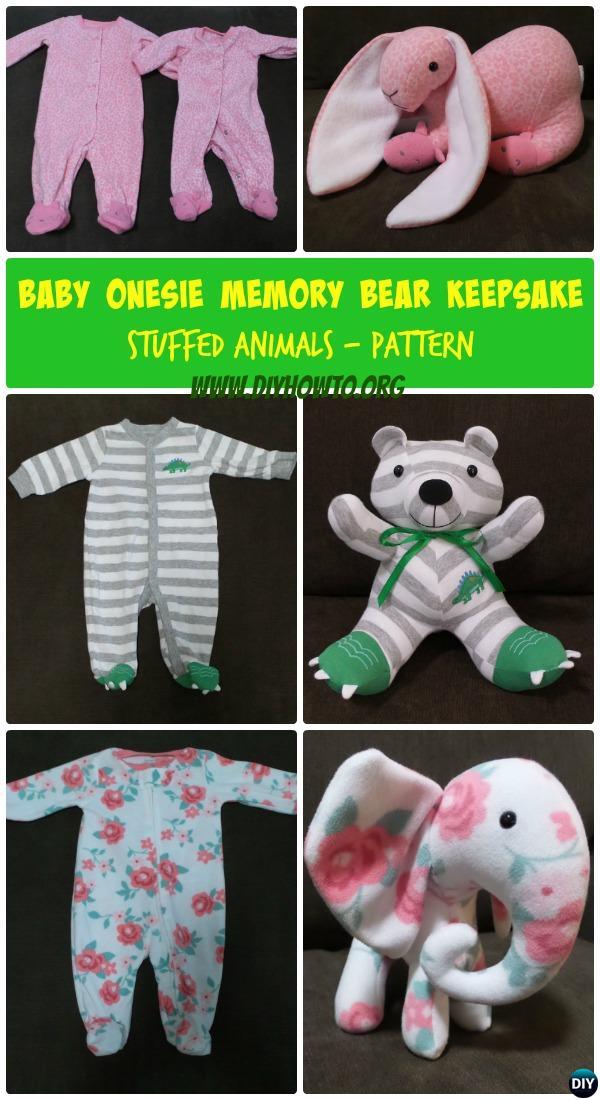 Diy Baby Onesie Memory Bear Keepsake Bear Pattern