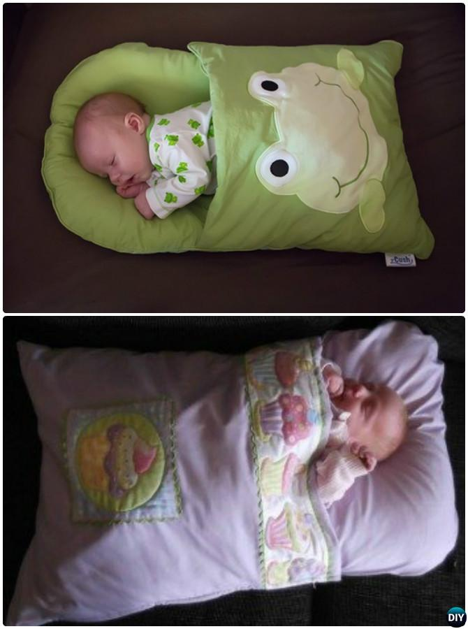 DIY Baby Pillowcase Sleeping Bag Nap Mat Sew Pattern-Handmade Baby Shower Gift Ideas Instructions