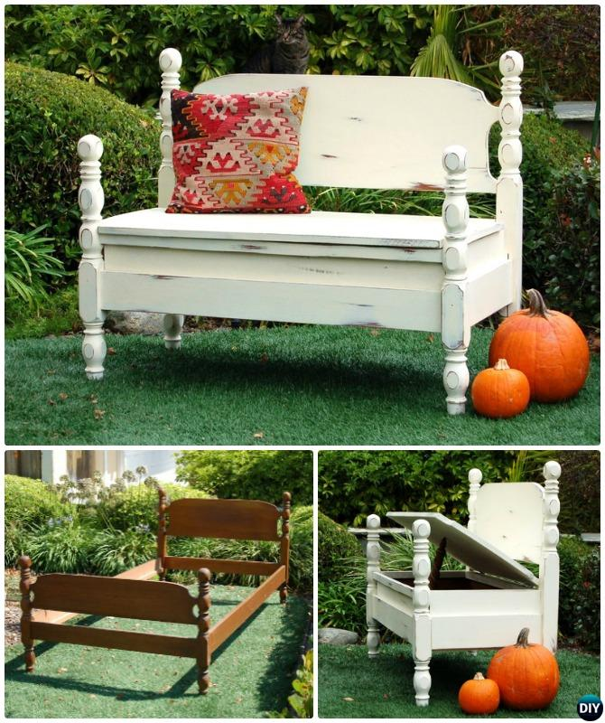 8 Diy Bed Frame Garden Bench Projects Picture Instructions