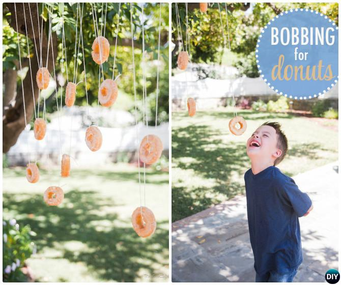 DIY Bobbing For Donuts-20 DIY Summer Outdoor Games For Kids Adults