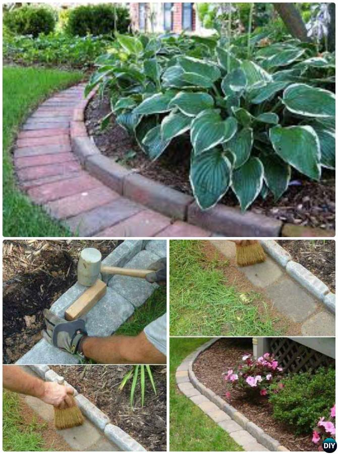 Creative garden bed edging ideas projects instructions for Diy brick projects