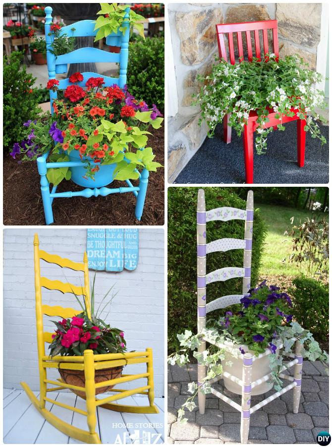DIY Broken Chair Planter Instructions-20 DIY Upcycled Container Gardening Planters Projects & DIY Broken Chair Planter Instructions-20 DIY Upcycled Container ...
