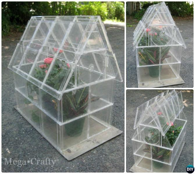 DIY CD Case Greenhouse-18 DIY Green House Projects Instructions
