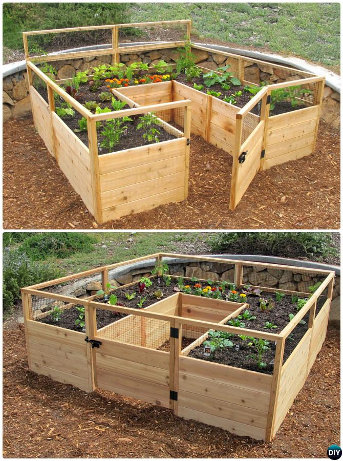 Diy raised garden bed ideas instructions free plans for Raised bed garden designs plans
