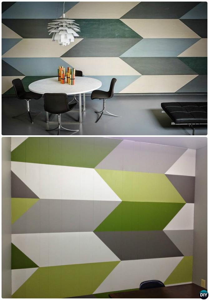Diy patterned wall painting ideas and techniques picture Painting geometric patterns on walls