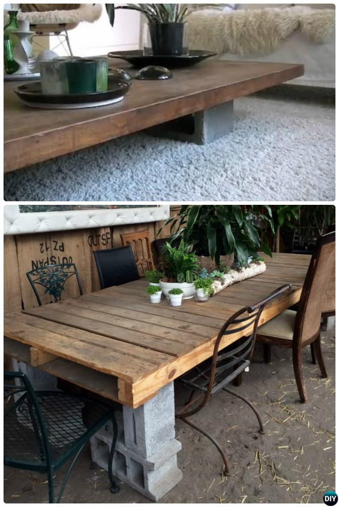 Groovy Unexpected Diy Concrete Block Furniture Projects Gmtry Best Dining Table And Chair Ideas Images Gmtryco