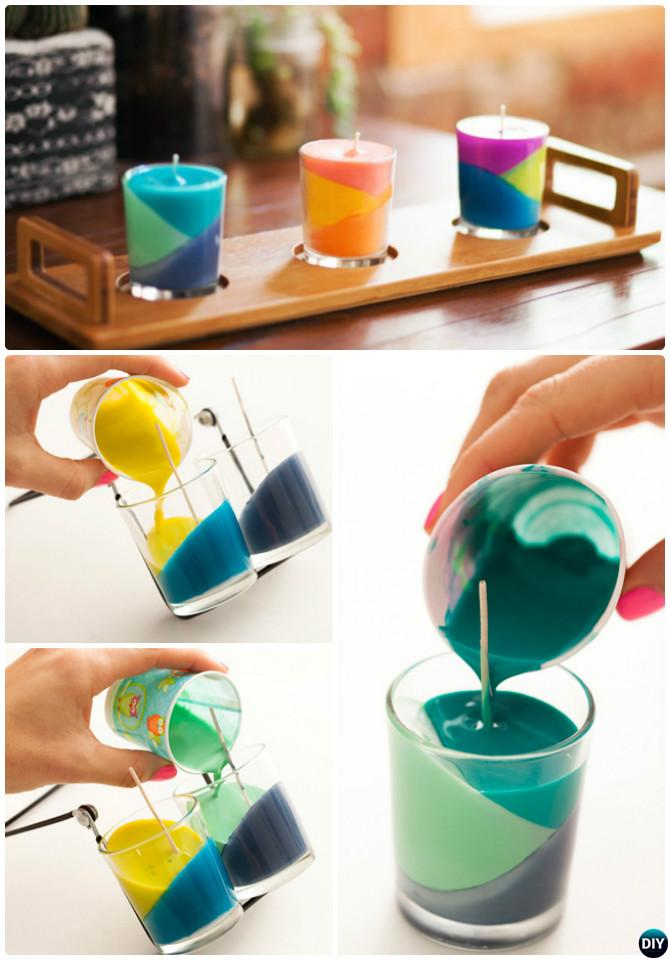 DIY Color Block Crayon Candle Instruction-Crayon Candle Ideas