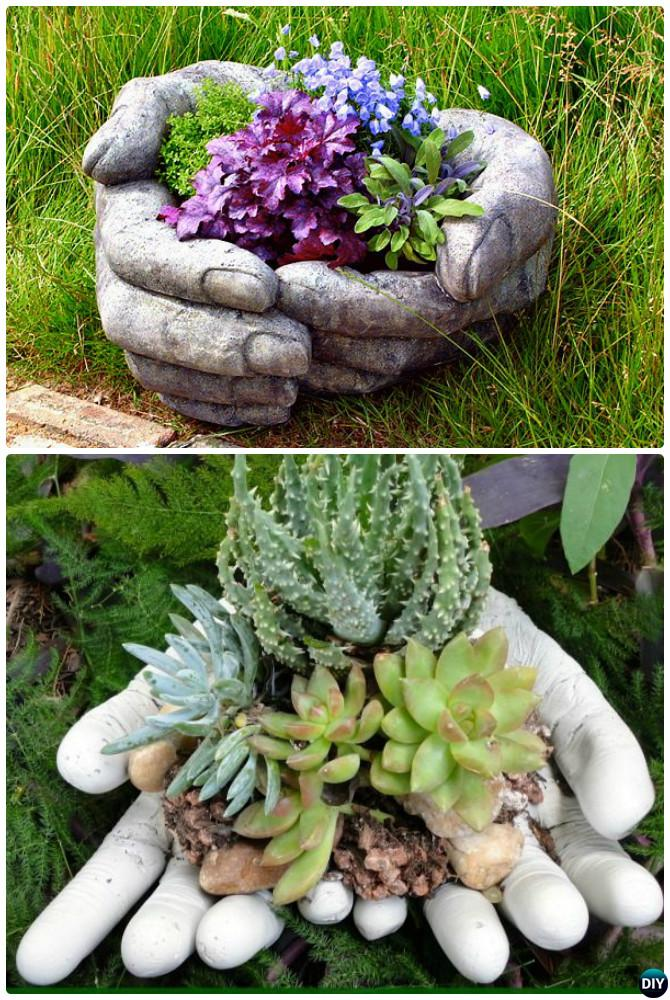 DIY Concrete Garden Art