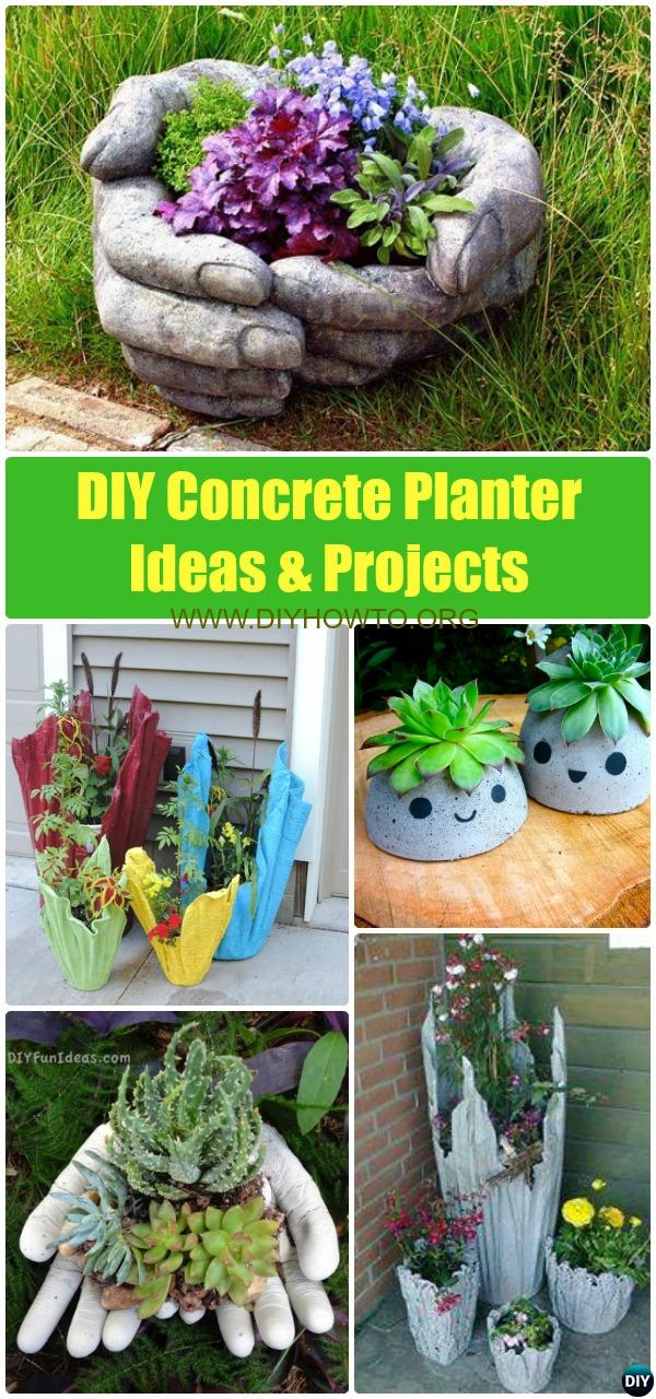 DIY Concrete Planter Ideas Projects [Instructions]