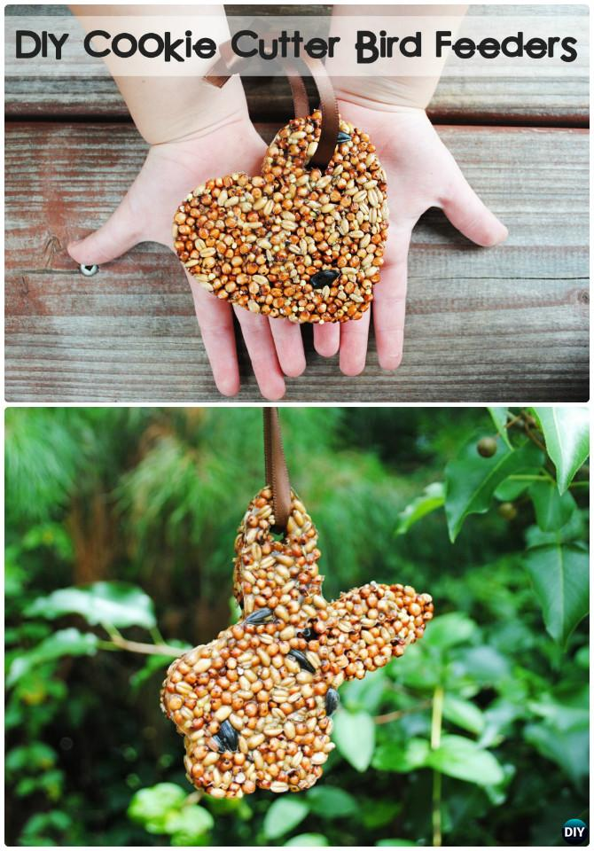 DIY Cookie Cutter Bird Feeder Instruction-16 Cookie Cutter Craft Ideas