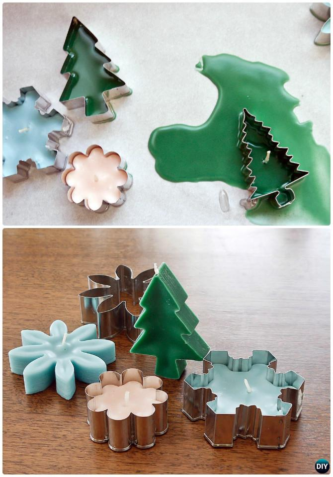 DIY Cookie-Cutter Candles Instruction-16 Cookie Cutter Craft Ideas
