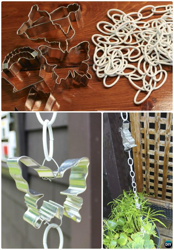DIY Cookie Cutter Rain Chain Instruction-16 Cookie Cutter Craft Ideas