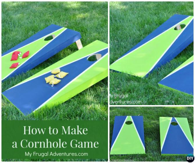 DIY Cornhole Game-20 DIY Summer Outdoor Games For Kids Adults