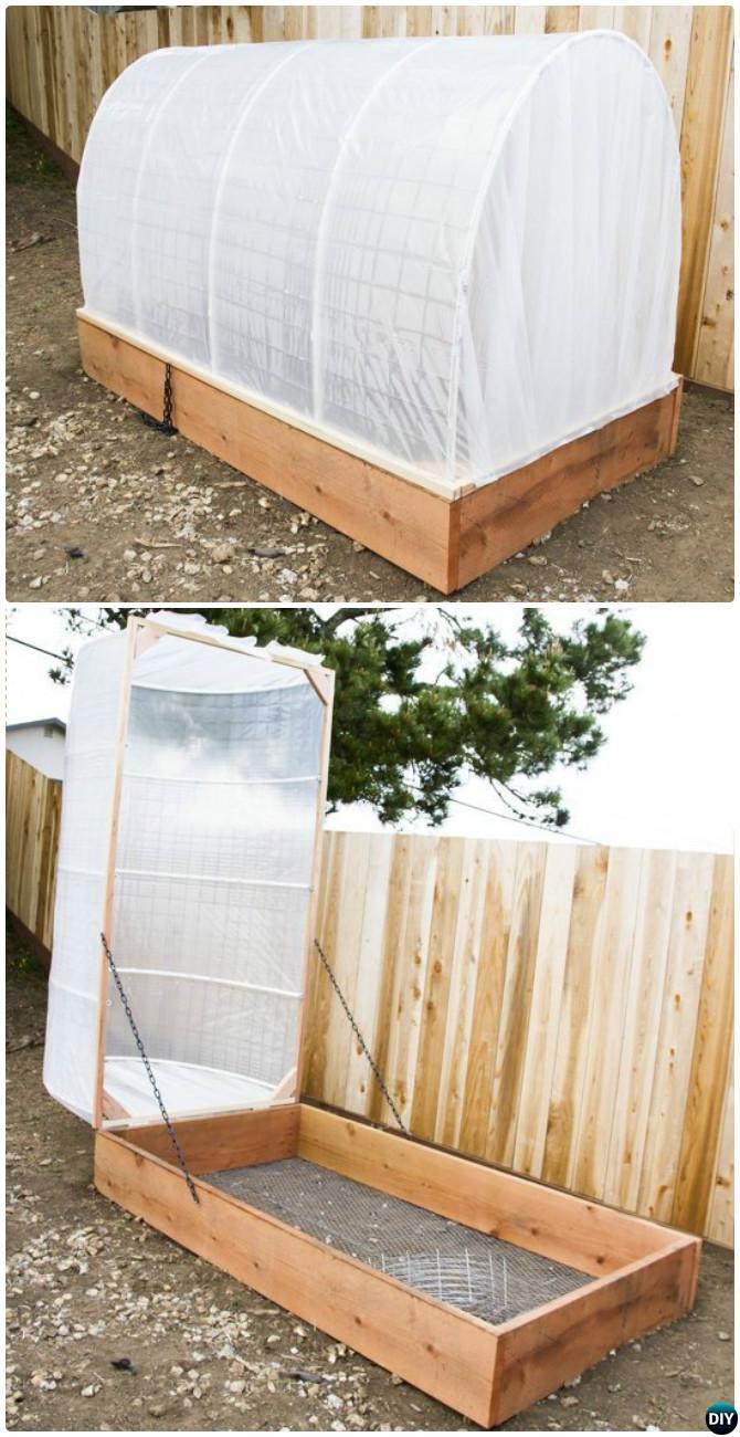 DIY Covered Greenhouse Raised Garden Bed-20 DIY Raised Garden Bed Ideas Instructions