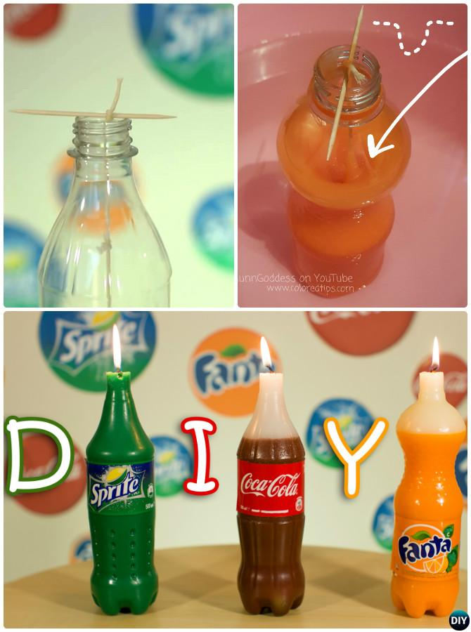 DIY Crayon Soda Candle Instruction-Crayon Candle Ideas