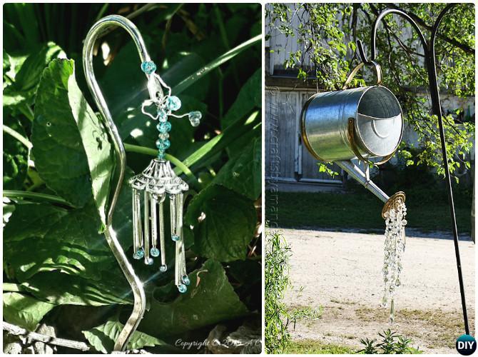 DIY Crystal Wind Chimes -20 Colorful Garden Art DIY Decorating Ideas