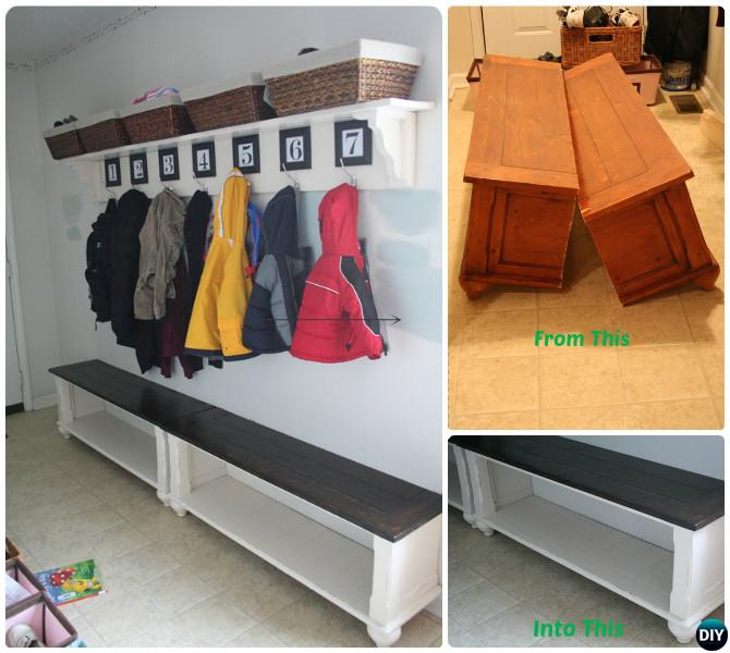 DIY Cut Up TABLE Entryway Bench Instructions-20 Best Entryway Bench DIY Ideas Projects
