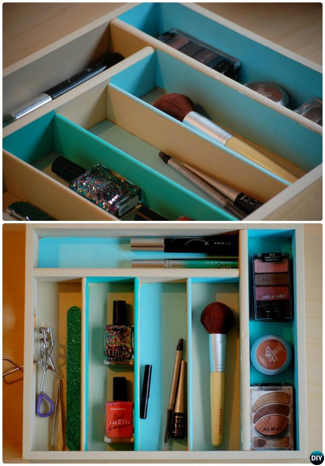 DIY Cutlery Tray Makeup Organizer Instruction- -16 Cutlery Tray Home Organization Ideas
