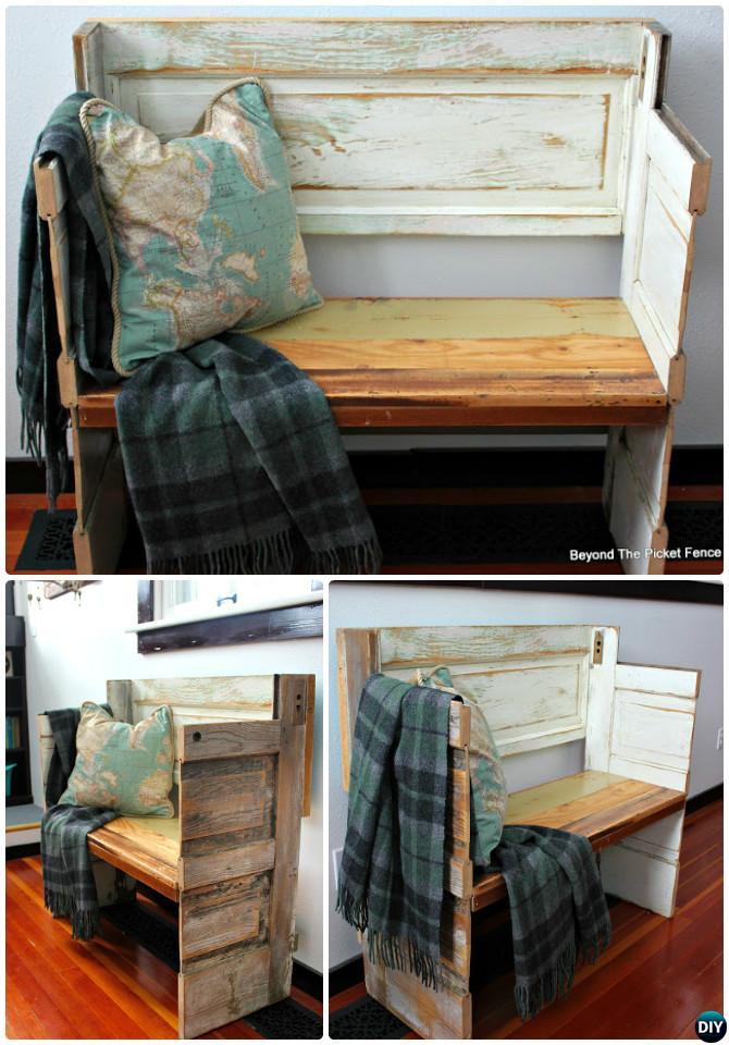 DIY Door Able Bench-Repurpose Old Door Into Door Bench Instruction