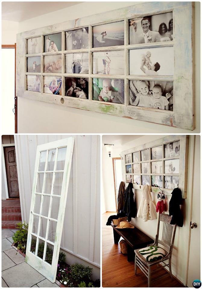 DIY Door Picture Frame Coat Rack-Repurpose Old Door Into Picture Frame Coat Rack Instruction