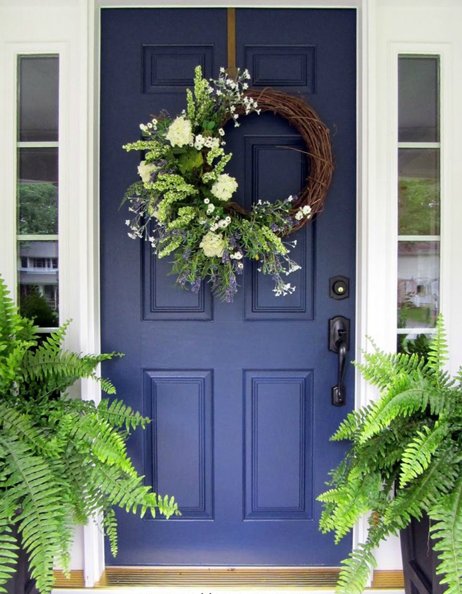IY Door Wreath-20 DIY Porch Decorating Ideas Projects