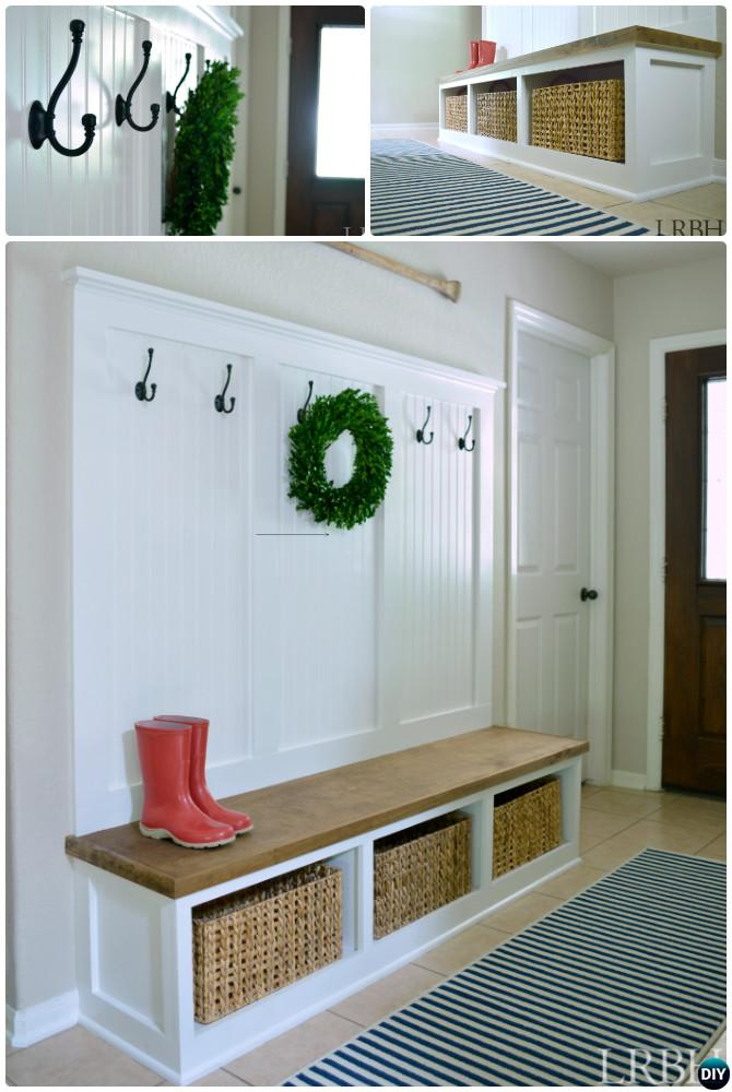 DIY Entryway Mudroom Instructions-20 Best Entryway Bench DIY Ideas Projects