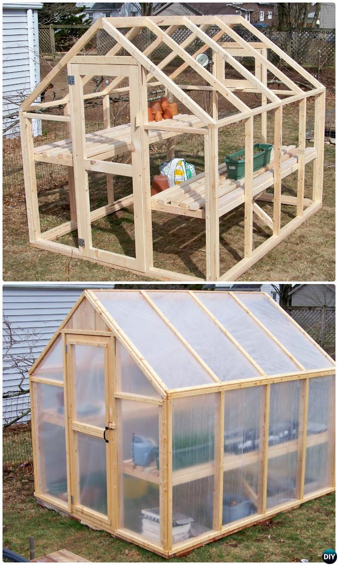 DIY Framed Greenhouse Free Plan Instruction-18 DIY Green House Projects Instructions