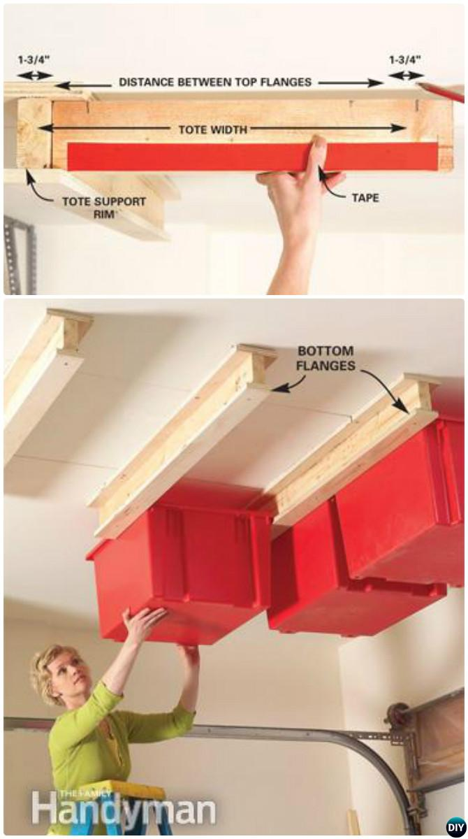 DIY Garage Ceiling Sliding Storage System-Garage Organization and Storage DIY Ideas Projects