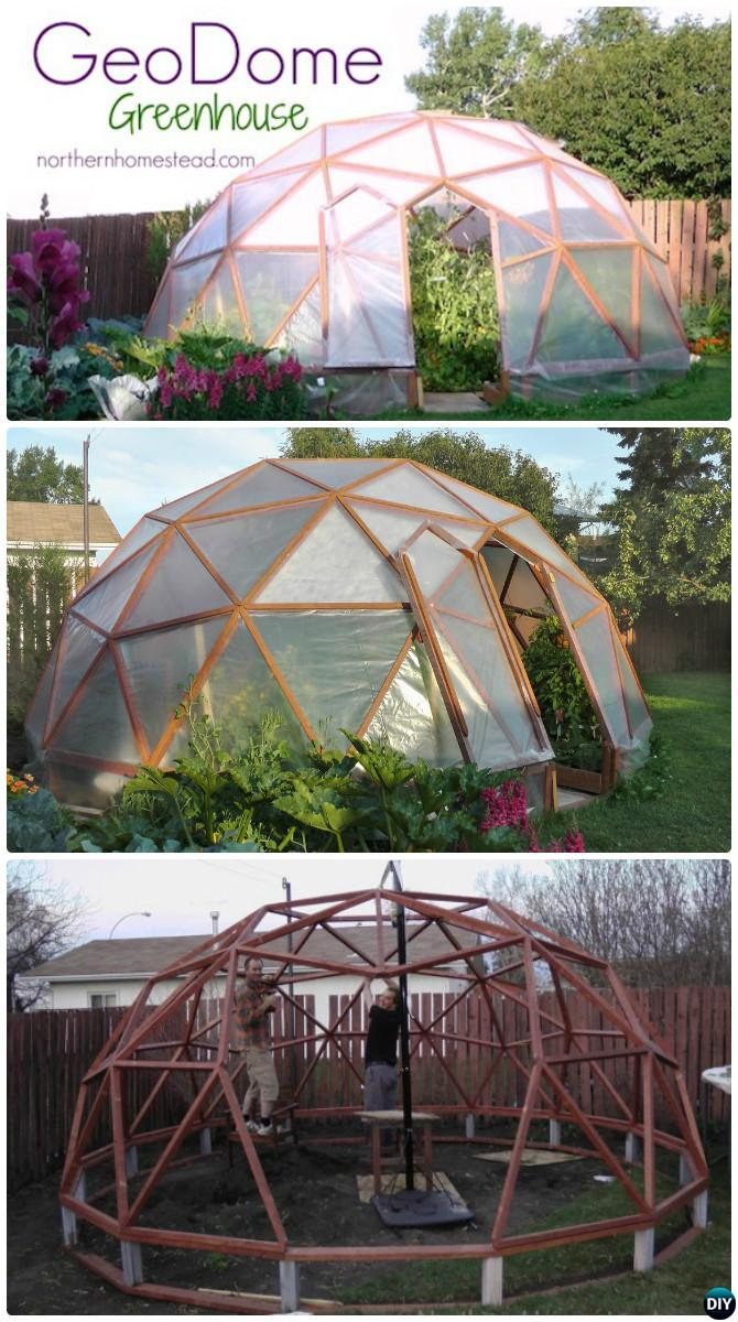 DIY GeoDome Greenhouse Free Plan Instruction-18 DIY Green House Projects Instructions