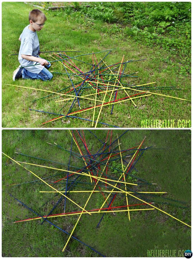 DIY Giant Pick-up Sticks-20 DIY Summer Outdoor Games For Kids Adults