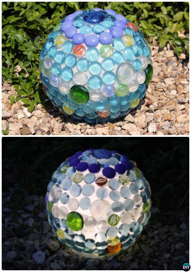 DIY Glowing Garden Balls -20 Colorful Garden Art DIY Decorating Ideas