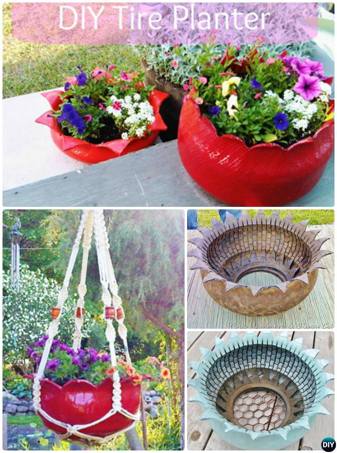Ordinaire DIY Hanging Flower Tire Planter   DIY Tire Planter Ideas
