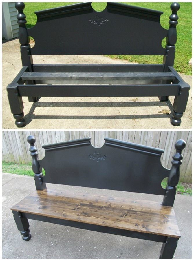 DIY Headboard Garden Bench Instructions