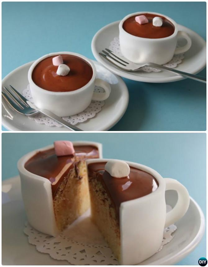 DIY Hot Chocolate Cupcakes-50 Most Surprising Cupcake Decoration Ideas and Recipes