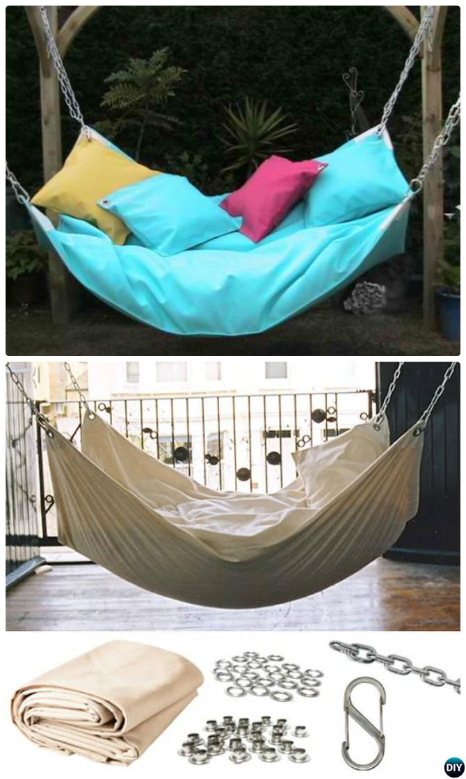 DIY Instant Sling Hammock-10 DIY Hammock Projects Instructions