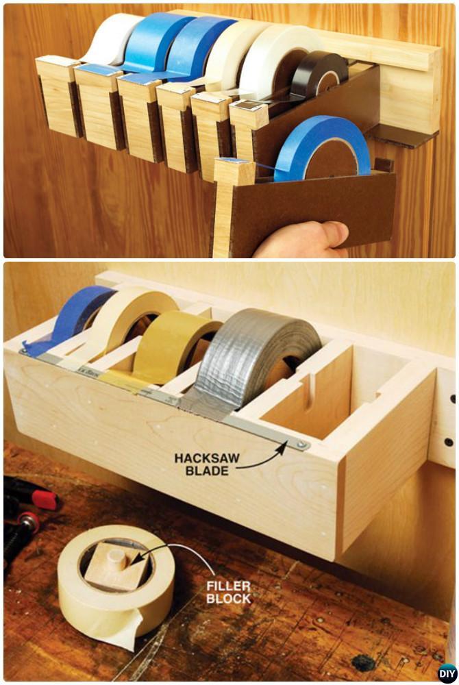 DIY Jumbo Tape Dispenser-Garage Organization and Storage DIY Ideas Projects