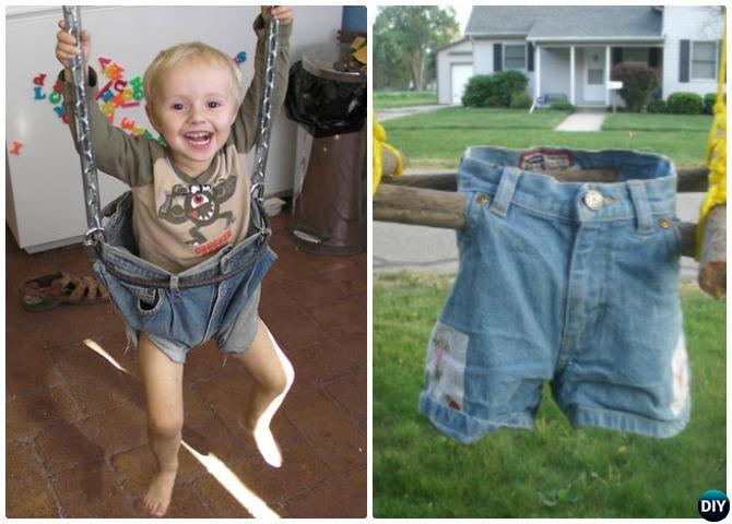 DIY Kids Jean Swing Instructions