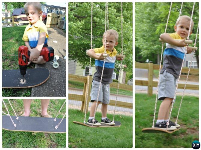 DIY Kids Skateboard Swing Instructions