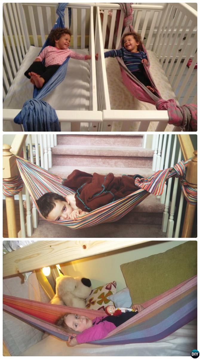 DIY Kids Wrap Hammock-10 DIY Hammock Projects Instructions