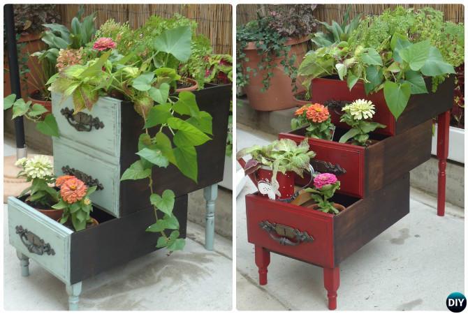 Diy layered drawer planter garden instruction diyhowto best draw diy layered drawer planter garden instruction diyhowto best draw gardening ideas workwithnaturefo