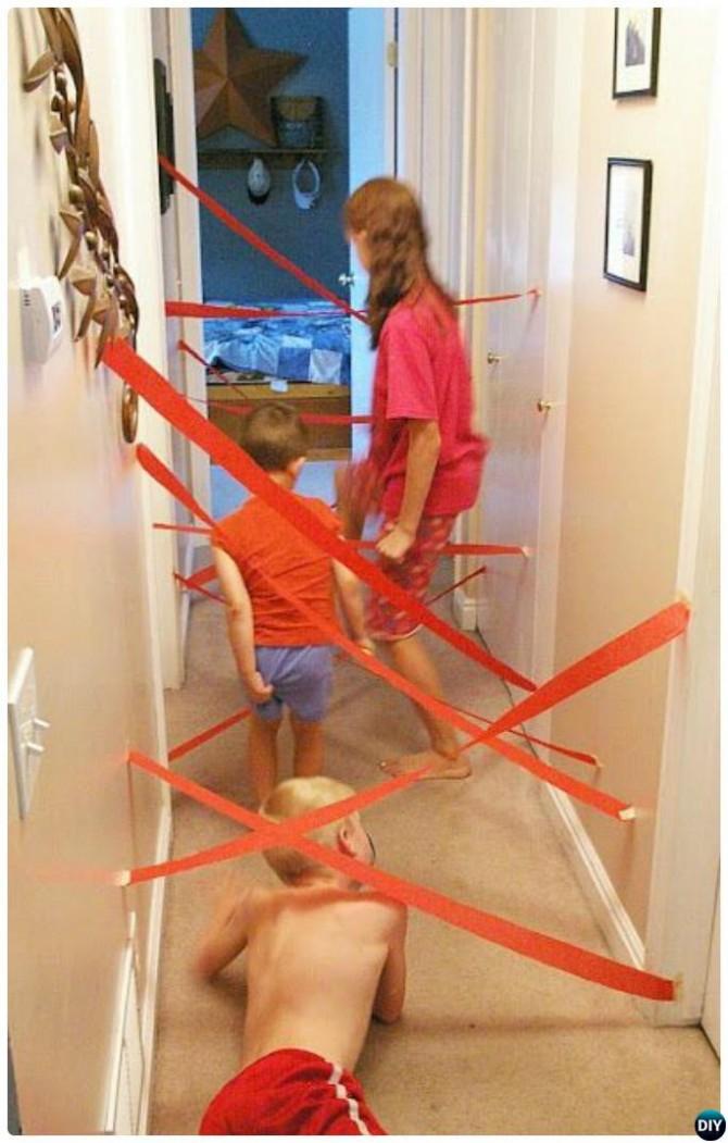 DIY Lazer Maze Kids Activity-20 Indoor Kids Activities