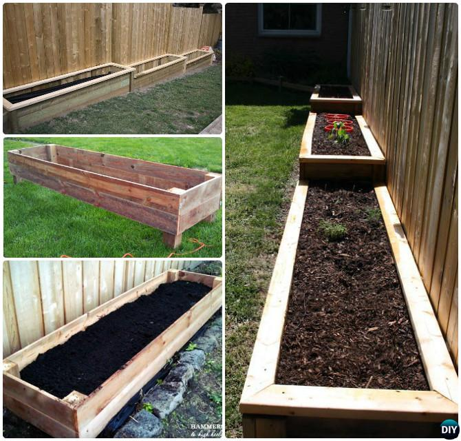 DIY Lumber Wood Raised Garden Bed
