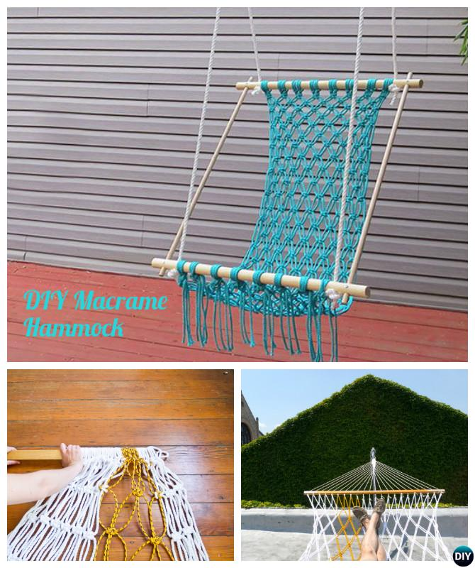 DIY Macrame Hammock Chair Instructions-10 DIY Hammock Projects