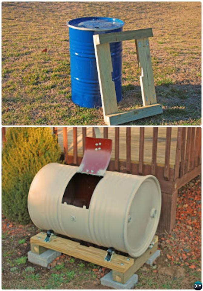 DIY Metal Drum Compost Bin Instruction-12 Simple DIY Compost Bin Projects