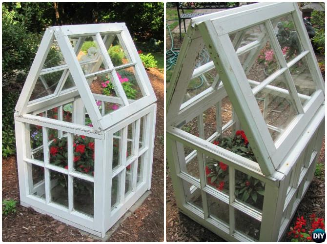 DIY Mini Window Greenhouse-15 DIY Green House Projects Instructions